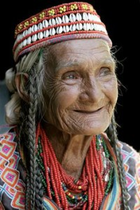 ELder woman joy