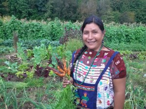Members of the Mayan in Exile Garden at UBC Farms